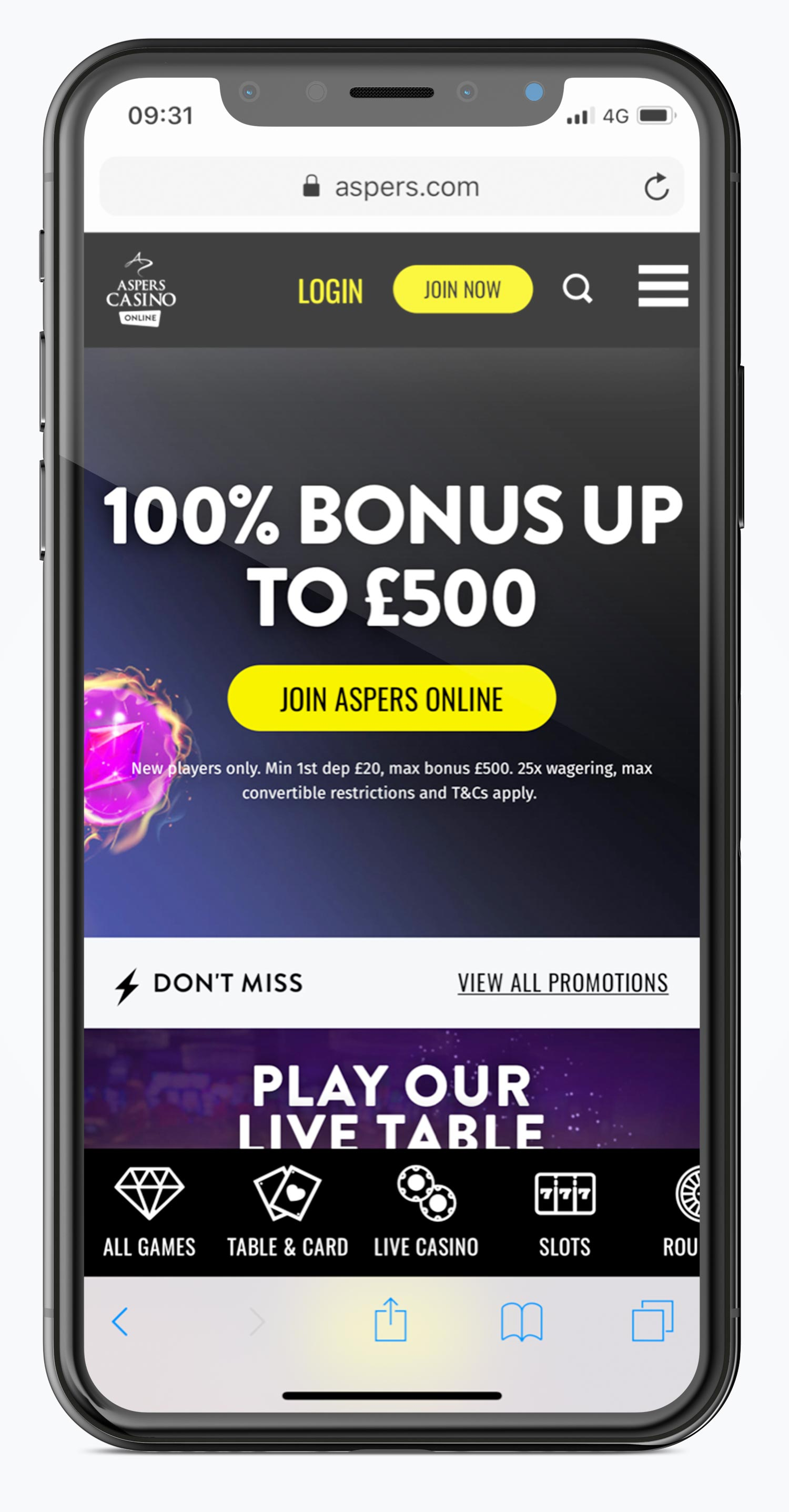 Aspers welcome offer